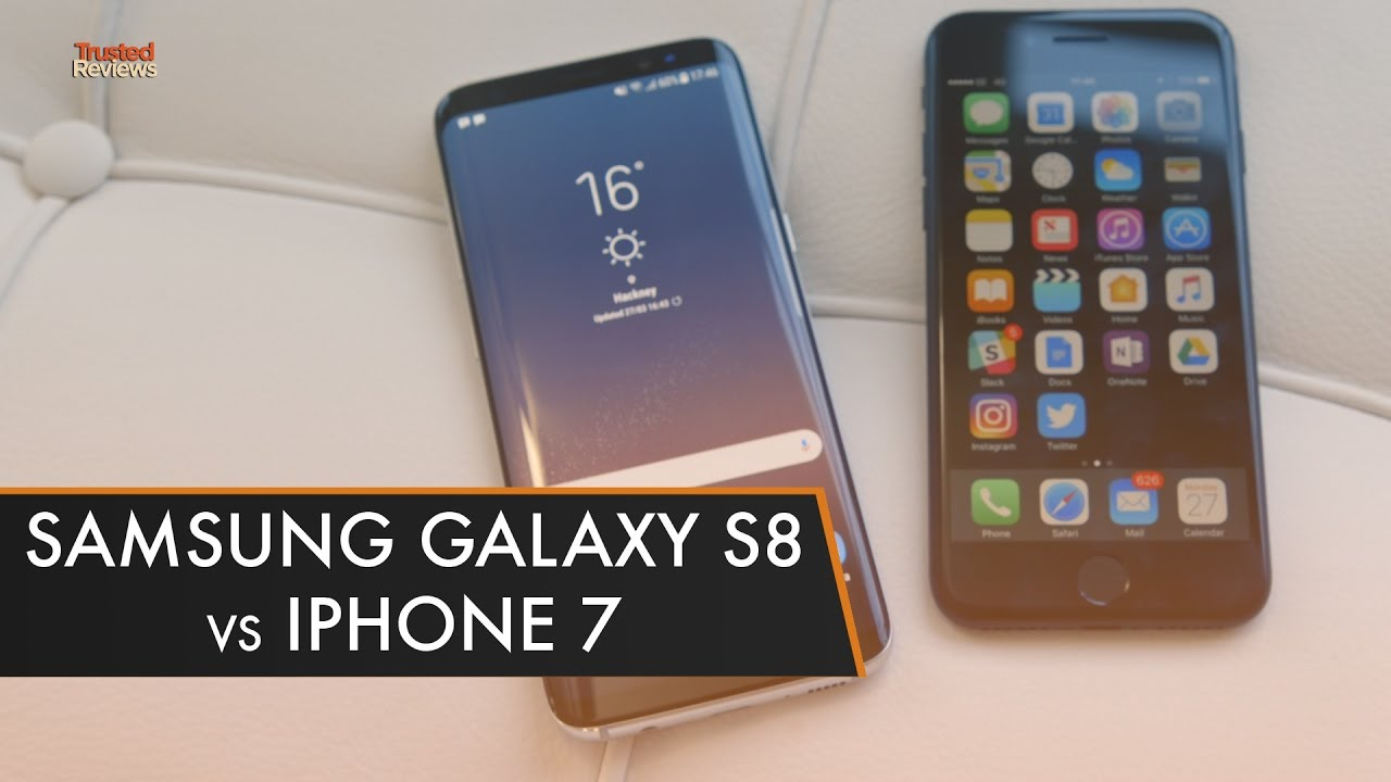 iphone vs samsung galaxy samsung galaxy s8 vs iphone 7 what is the best phone 9346